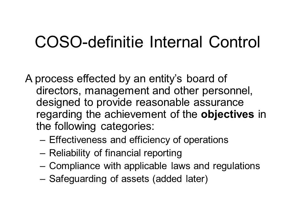 Monitoring (1) De redenen voor het monitoren/ het evalueren van de werking van beheerssystemen zijn: De dynamiek van de maatschappij en daarmede noodzakelijkerwijs van de organisatie maakt ook de beheerssystemen dynamisch en aan verandering onderhevig Het functioneren van een beheerssysteem kan afwijken van de opzet