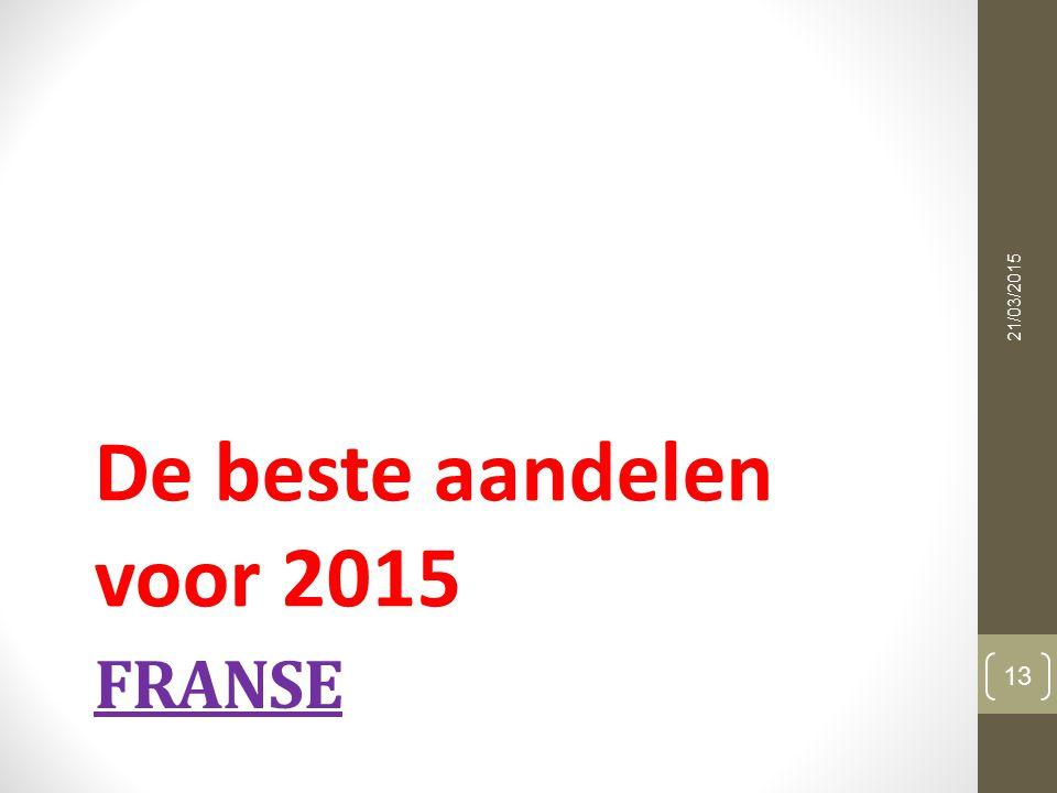 FRANSE De beste aandelen voor 2015 21/03/2015 13