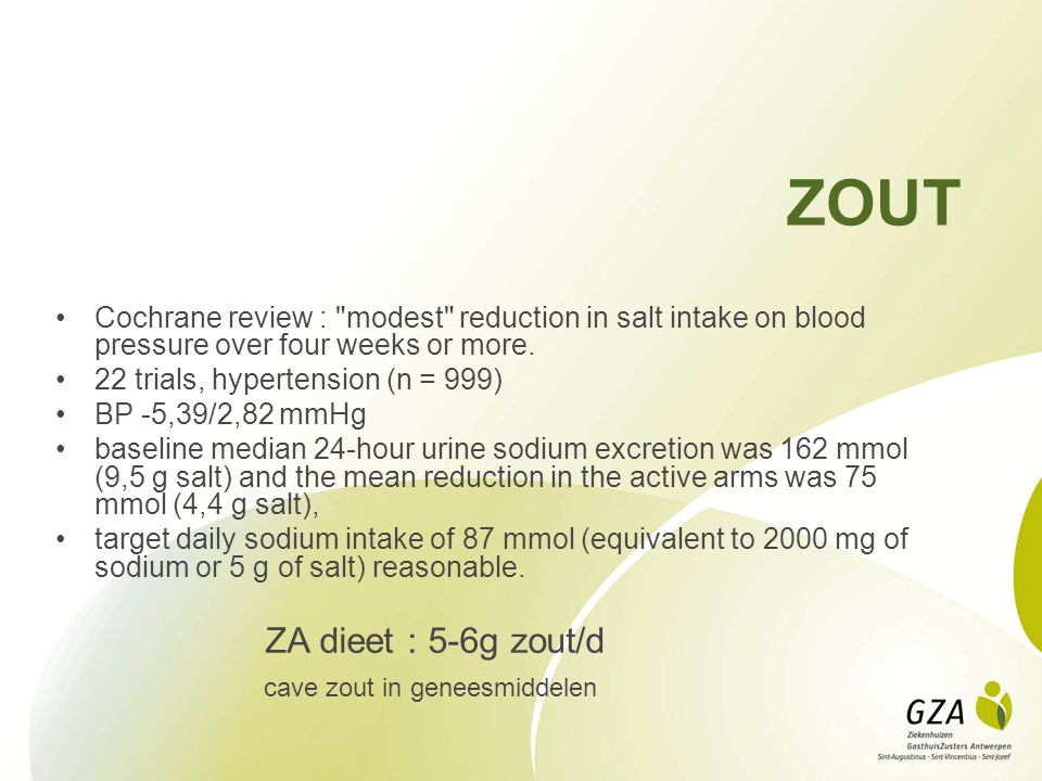 ZOUT Cochrane review :