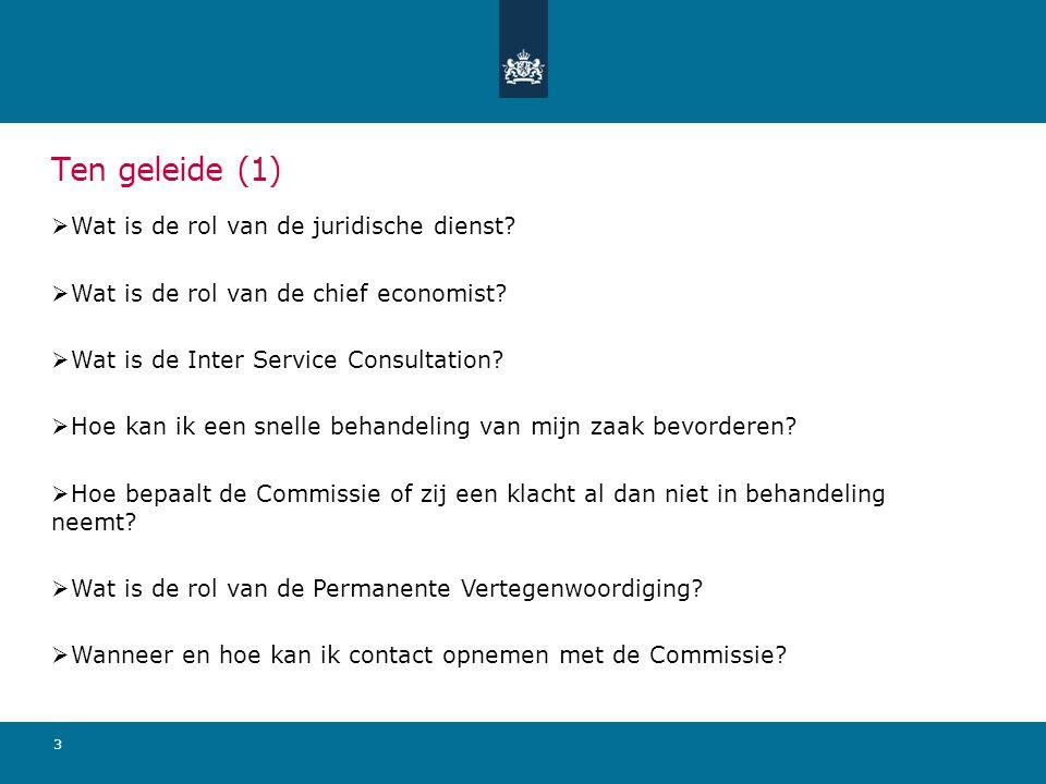 3 Ten geleide (1)  Wat is de rol van de juridische dienst.