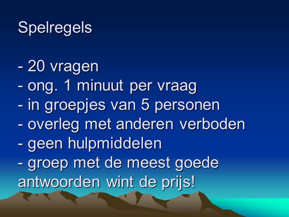 Vraag 11 Hoe beschermt Nederland zich tegen het water? Noem er 3!