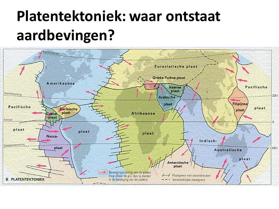Platentektoniek: waar ontstaat aardbevingen?