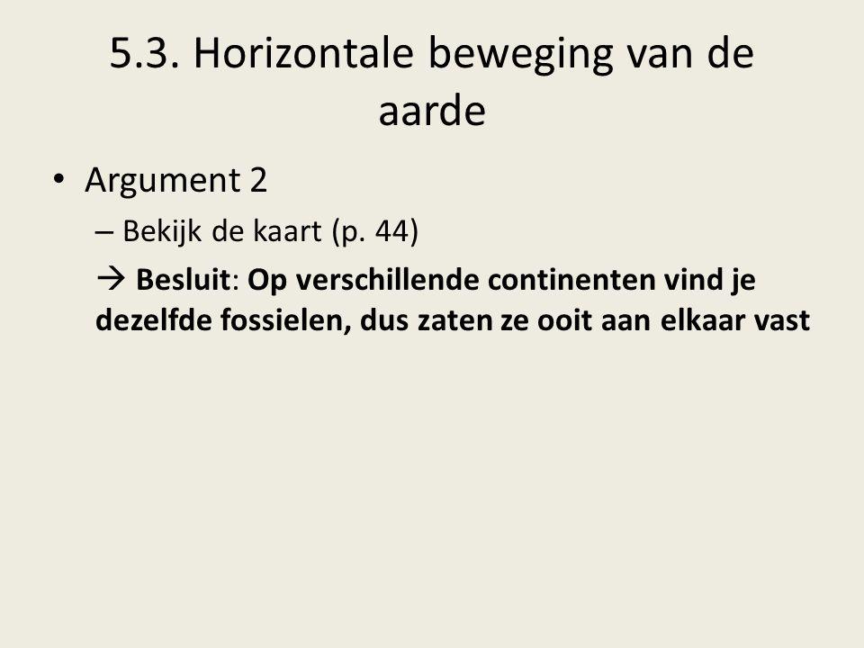 5.3.Horizontale beweging van de aarde Argument 2 – Bekijk de kaart (p.