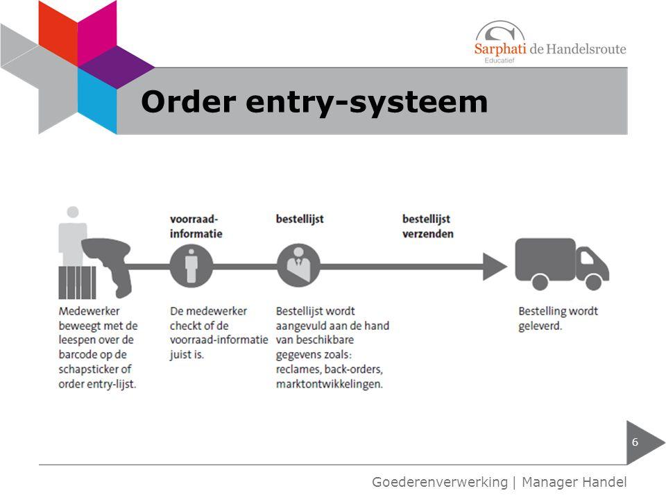 Order entry-systeem 6 Goederenverwerking | Manager Handel