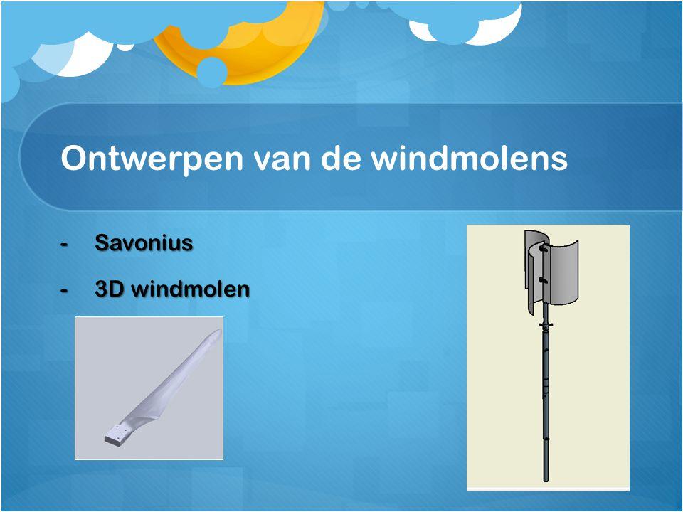 Ontwerpen van de windmolens -Savonius -3D windmolen