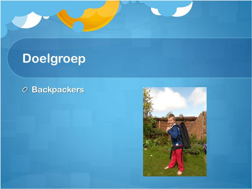 Doelgroep Backpackers