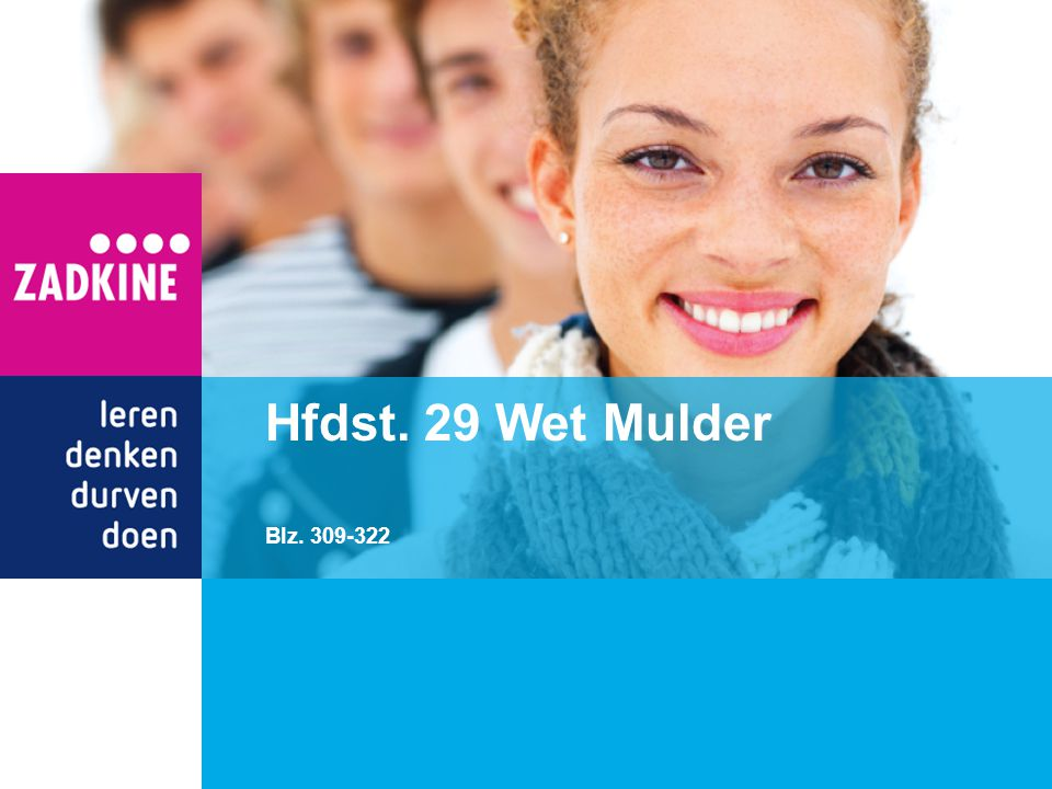 Hfdst. 29 Wet Mulder Blz. 309-322