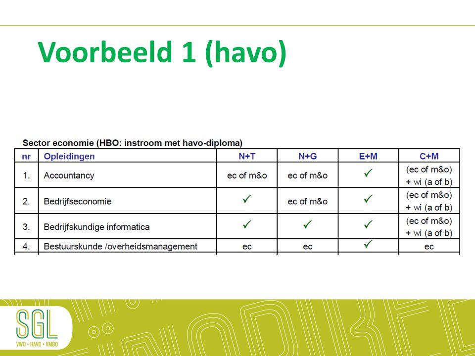 Voorbeeld 1 (havo)