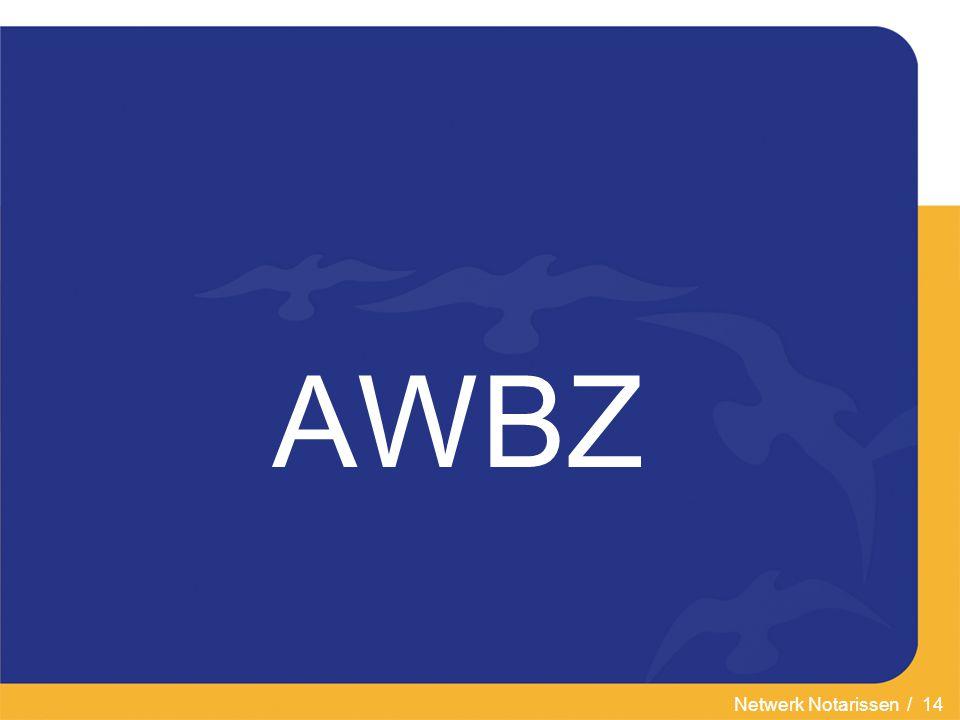 Netwerk Notarissen / 14 AWBZ