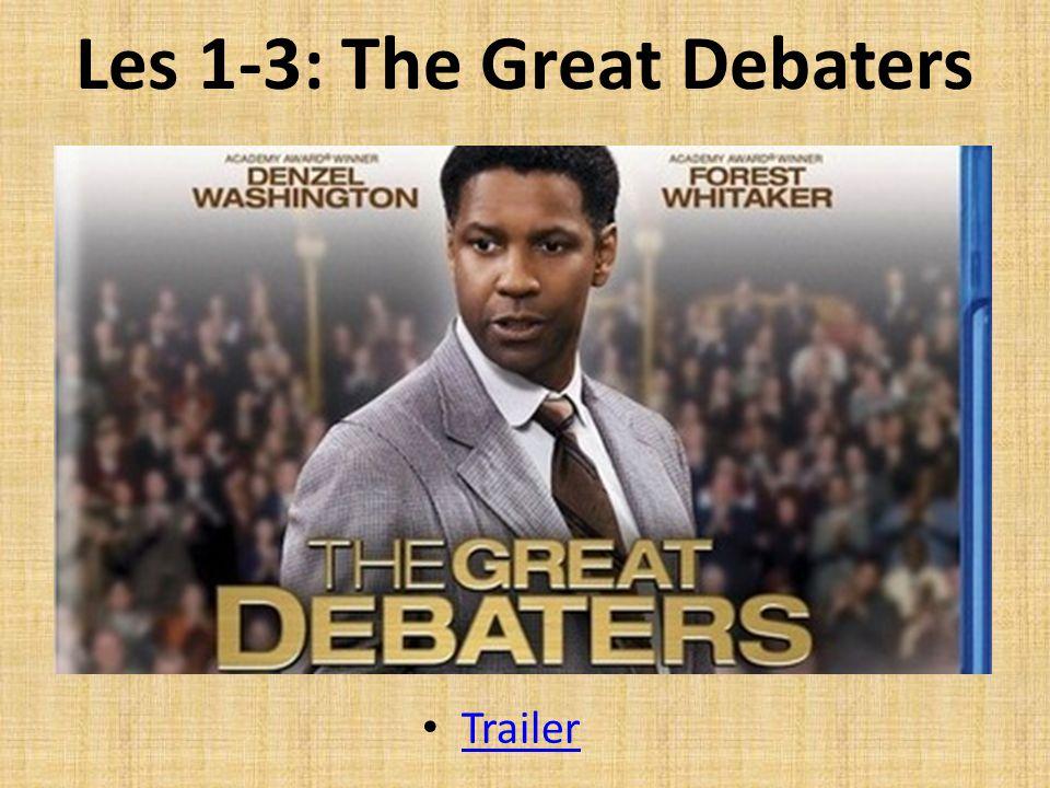 Les 1-3: The Great Debaters Trailer