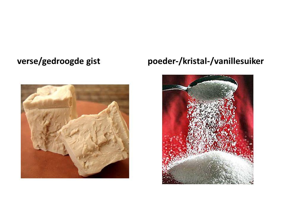 verse/gedroogde gistpoeder-/kristal-/vanillesuiker