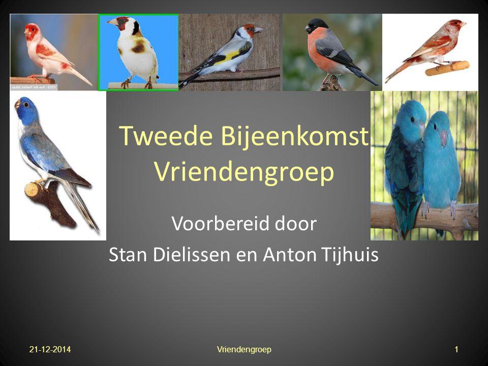 Tweede Bijeenkomst Vriendengroep Voorbereid door Stan Dielissen en Anton Tijhuis 21-12-20141Vriendengroep