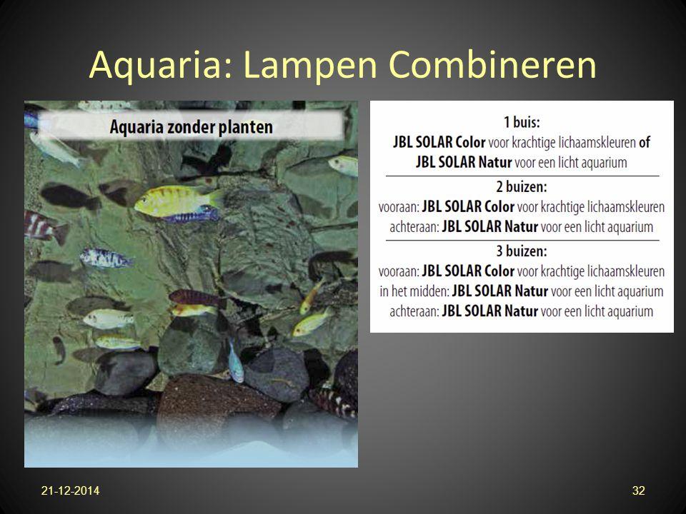 Aquaria: Lampen Combineren 21-12-201432