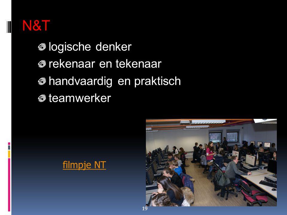 N&T logische denker rekenaar en tekenaar handvaardig en praktisch teamwerker 19 filmpje NT