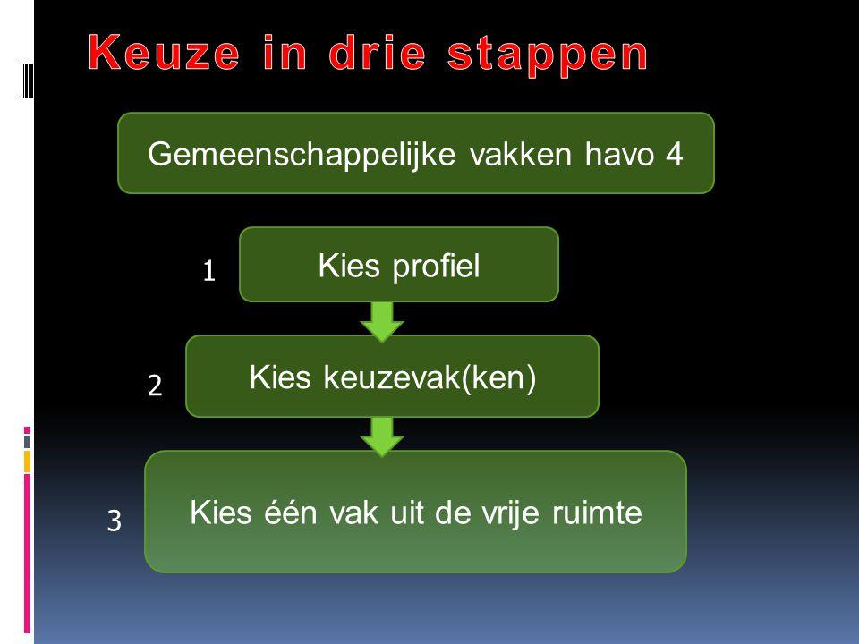 Aandachtspunten (2)  Frans, Duits of Spaans mag alleen gekozen worden als het vak op de mavo is gevolgd.