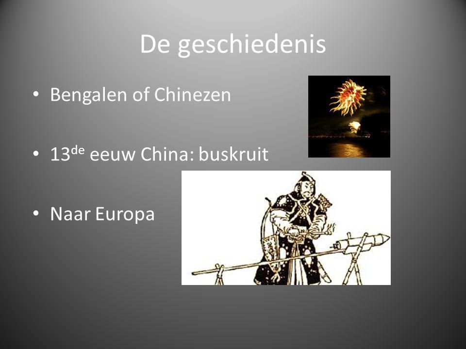 De geschiedenis Bengalen of Chinezen 13 de eeuw China: buskruit Naar Europa