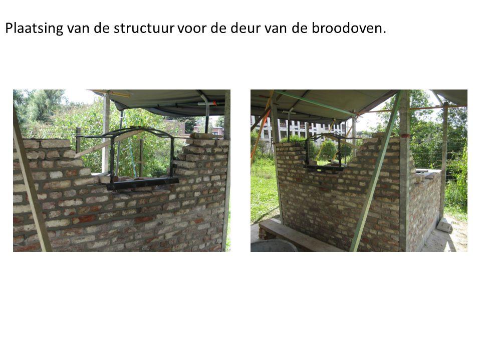 Plaatsing van de structuur voor de deur van de broodoven.