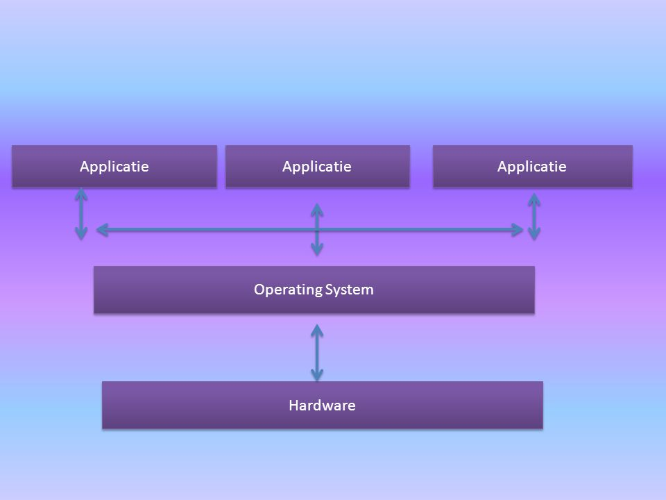 Applicatie Operating System Hardware
