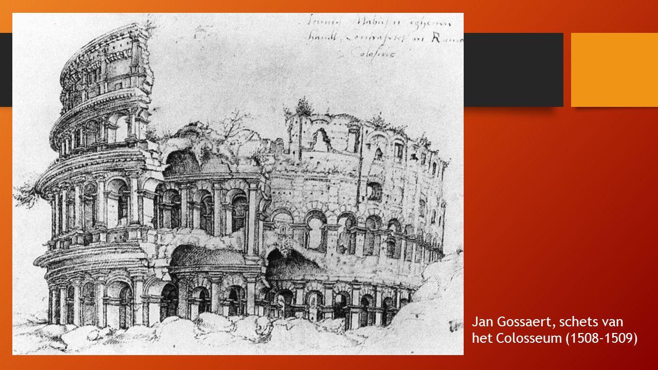 Jan Gossaert, schets van het Colosseum (1508-1509)