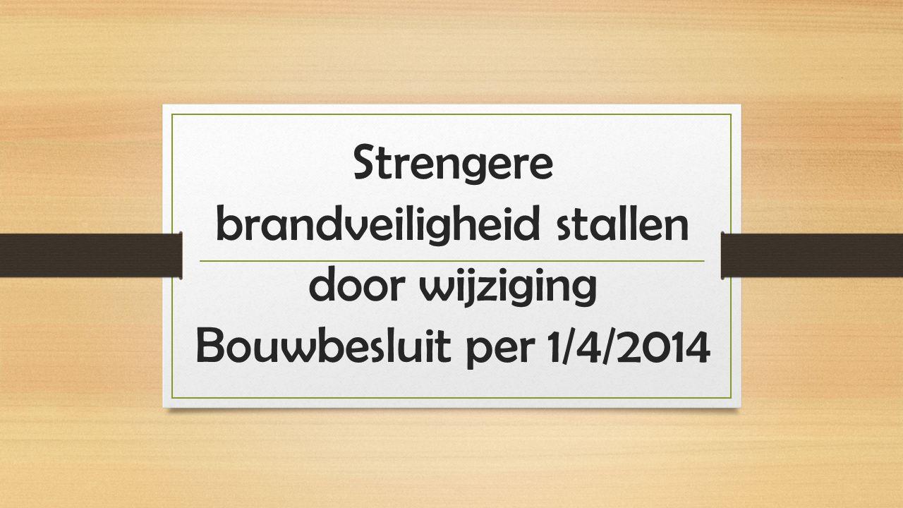 Strengere brandveiligheid stallen door wijziging Bouwbesluit per 1/4/2014