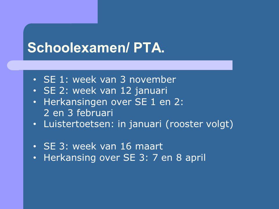 Schoolexamen/ PTA.