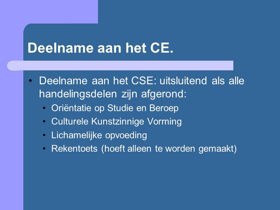 Deelname aan het CE.