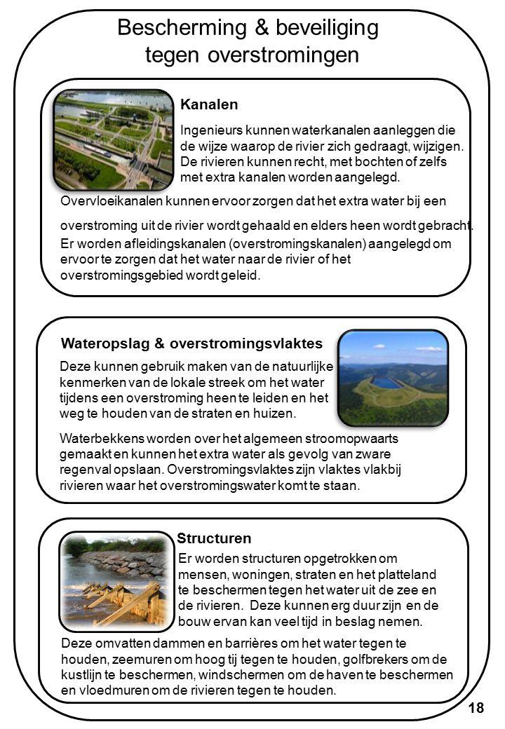 Bescherming & beveiliging tegen overstromingen Pompstations Dit zijn gebouwen die over pompen en uitrusting beschikken om het water van de ene plaats naar de andere te brengen.