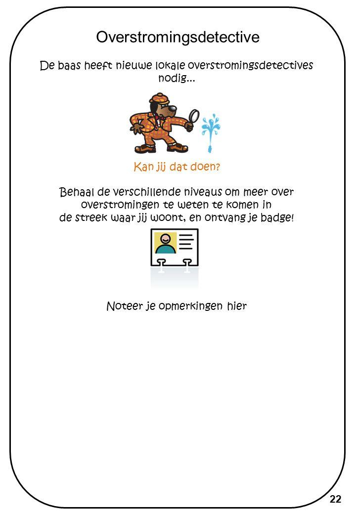 Puzzel superoverstromingsdetecive Nu je een overstromingsdetective bent, wil je misschien graag nog een andere zaak onderzoeken...