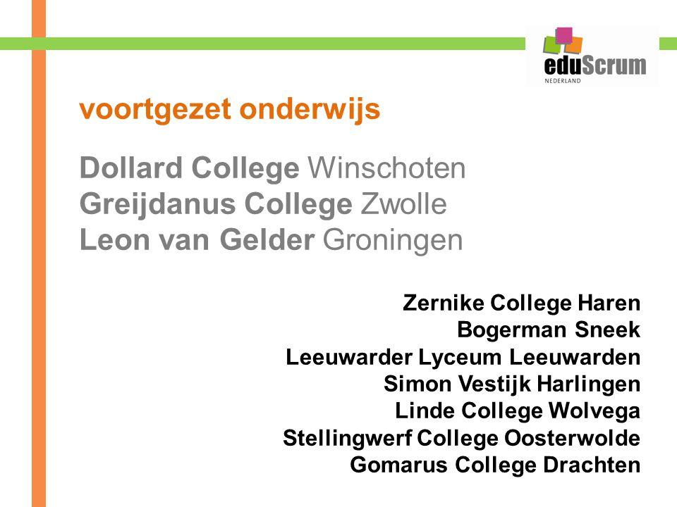 voortgezet onderwijs Dollard College Winschoten Greijdanus College Zwolle Leon van Gelder Groningen Zernike College Haren Bogerman Sneek Leeuwarder Ly