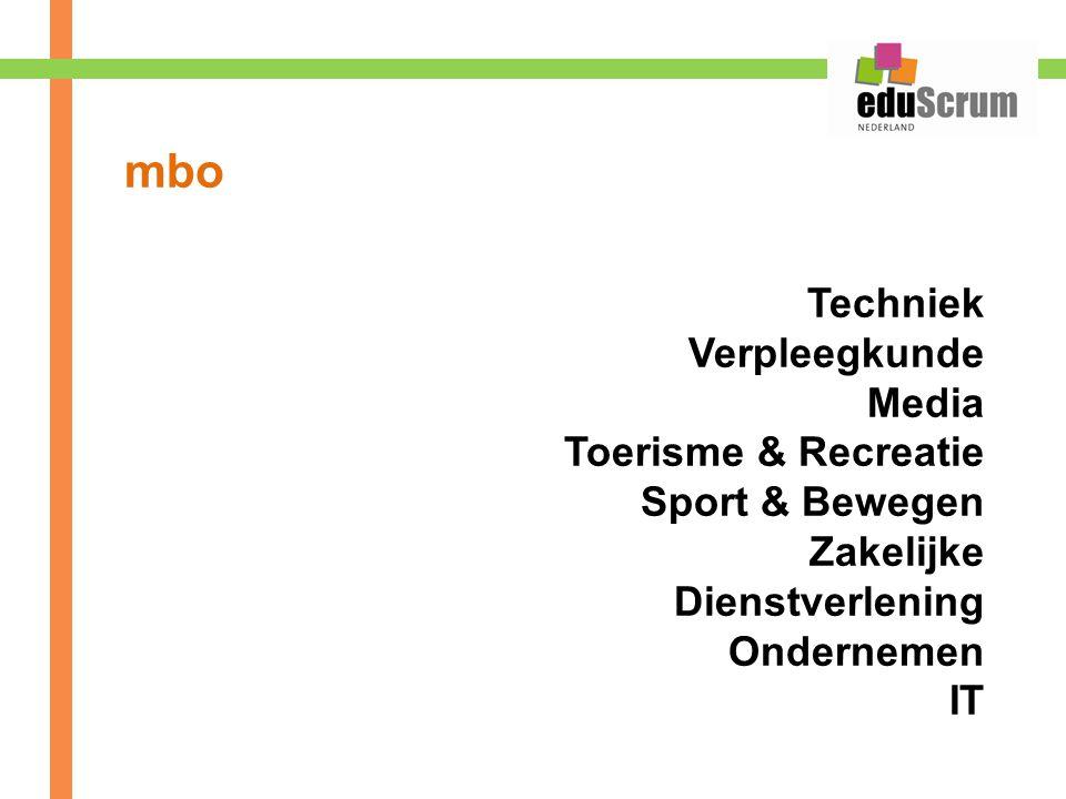 mbo Techniek Verpleegkunde Media Toerisme & Recreatie Sport & Bewegen Zakelijke Dienstverlening Ondernemen IT