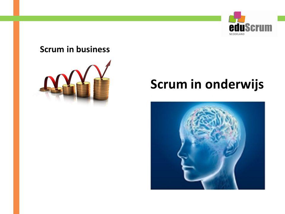 Scrum in onderwijs Scrum in business