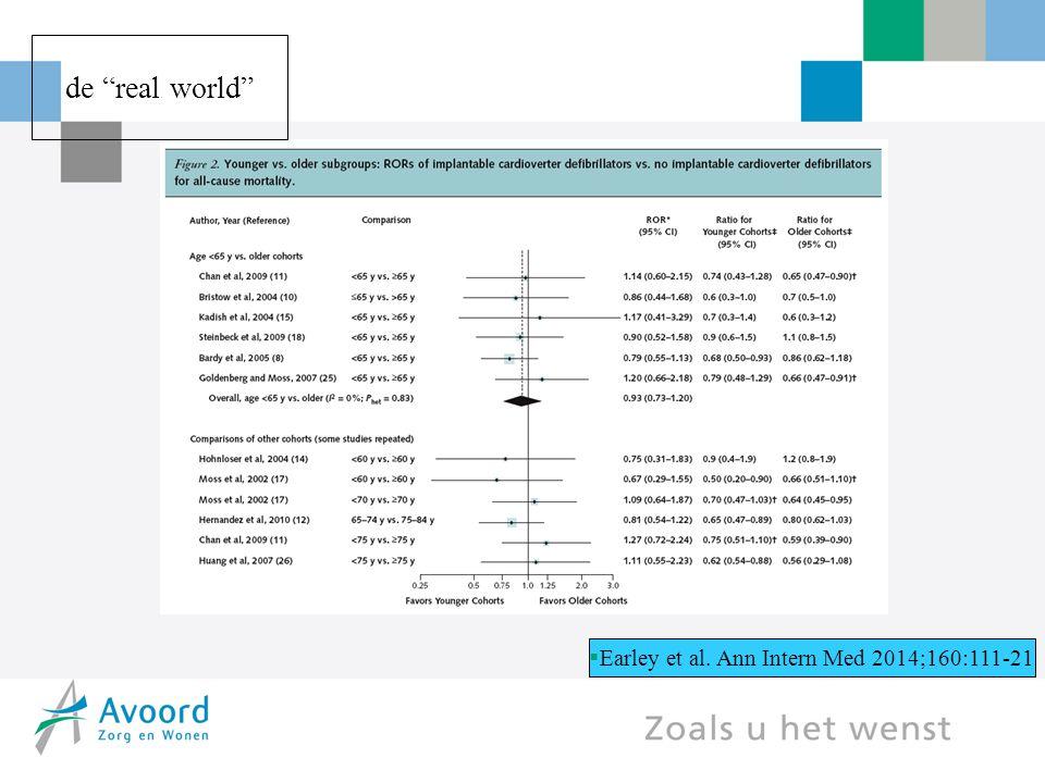 """ Earley et al. Ann Intern Med 2014;160:111-21 de """"real world"""""""