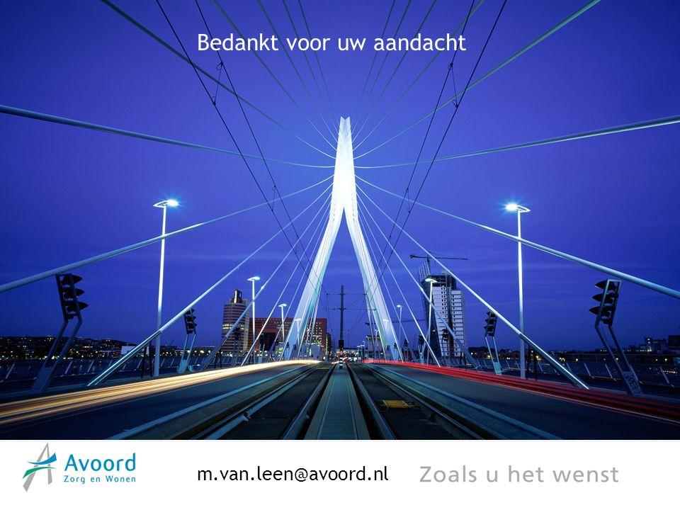 Bedankt voor uw aandacht m.van.leen@avoord.nl