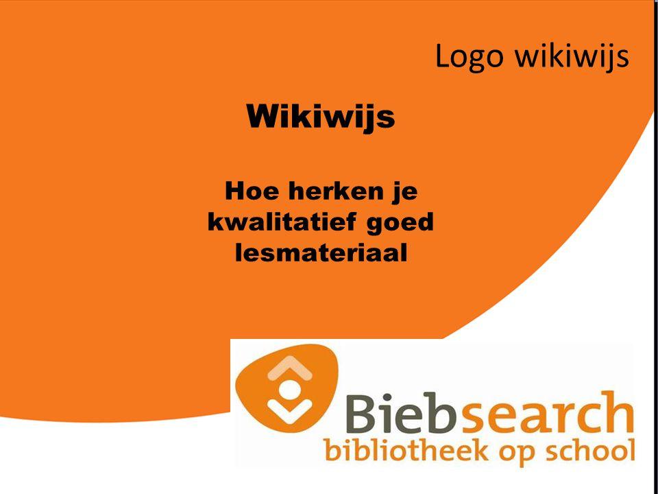 Wikiwijs Hoe herken je kwalitatief goed lesmateriaal Logo wikiwijs