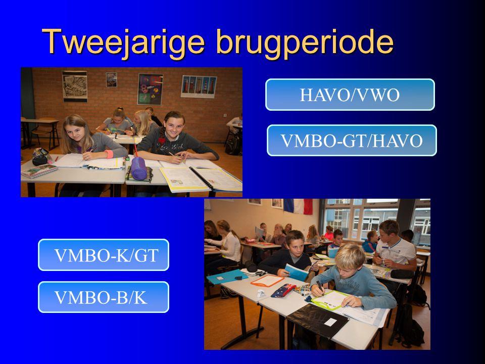 Don Bosco College Tweejarige brugperiode VMBO-K/GT HAVO/VWO VMBO-B/K VMBO-GT/HAVO