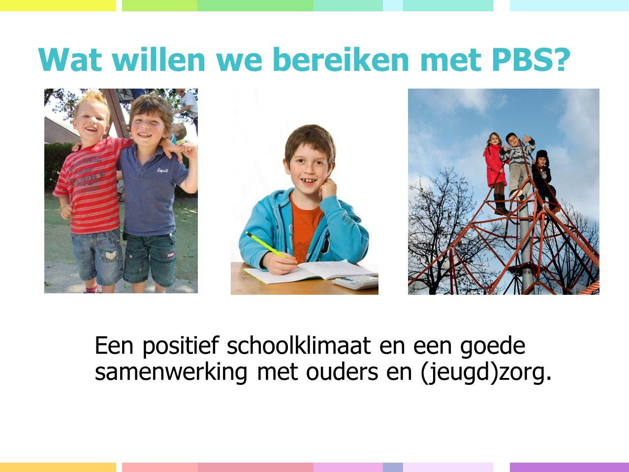 Wat willen we bereiken met PBS.