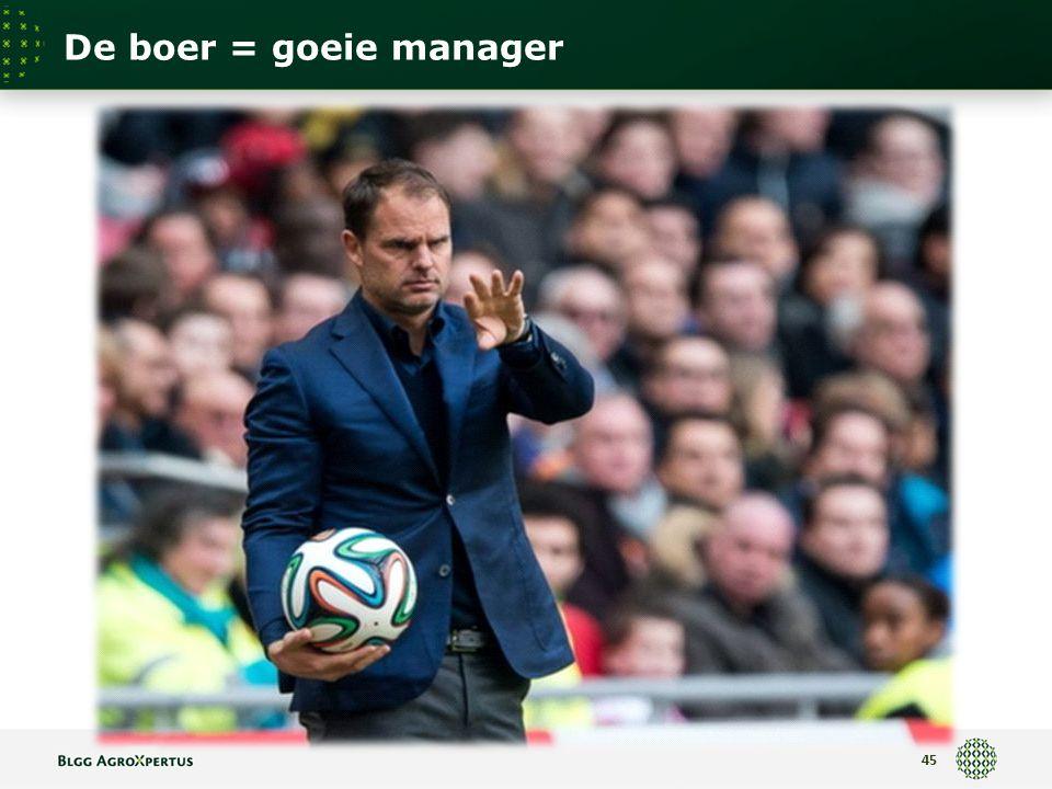 De boer = goeie manager 45