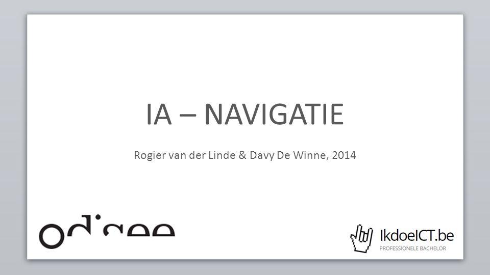 IA – NAVIGATIE Rogier van der Linde & Davy De Winne, 2014