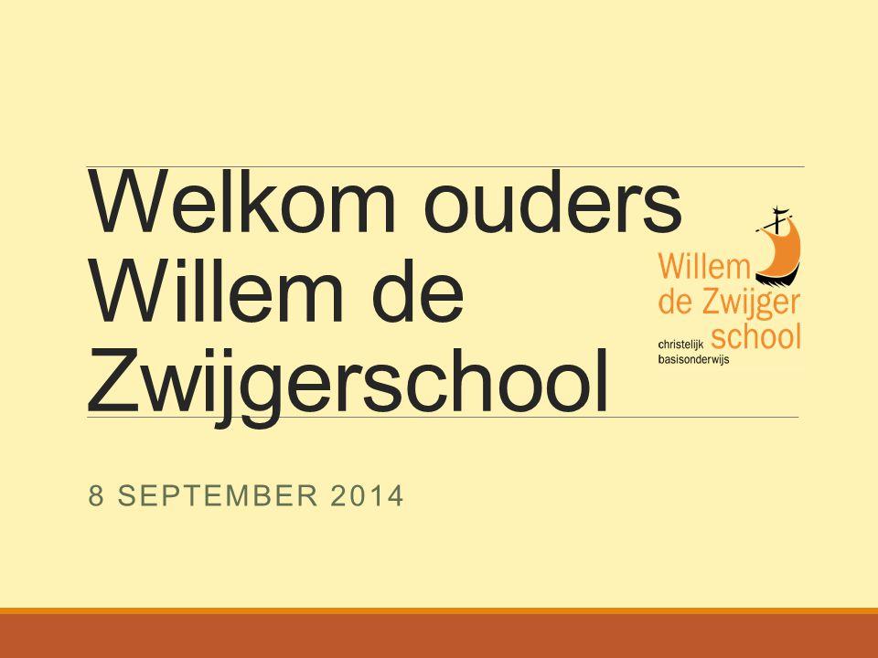 Welkom ouders Willem de Zwijgerschool 8 SEPTEMBER 2014