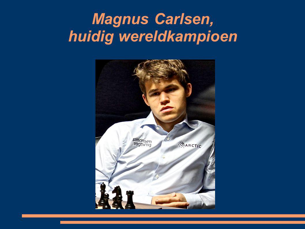 Magnus Carlsen, huidig wereldkampioen