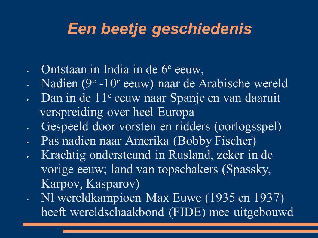 Een beetje geschiedenis Ontstaan in India in de 6 e eeuw, Nadien (9 e -10 e eeuw) naar de Arabische wereld Dan in de 11 e eeuw naar Spanje en van daar