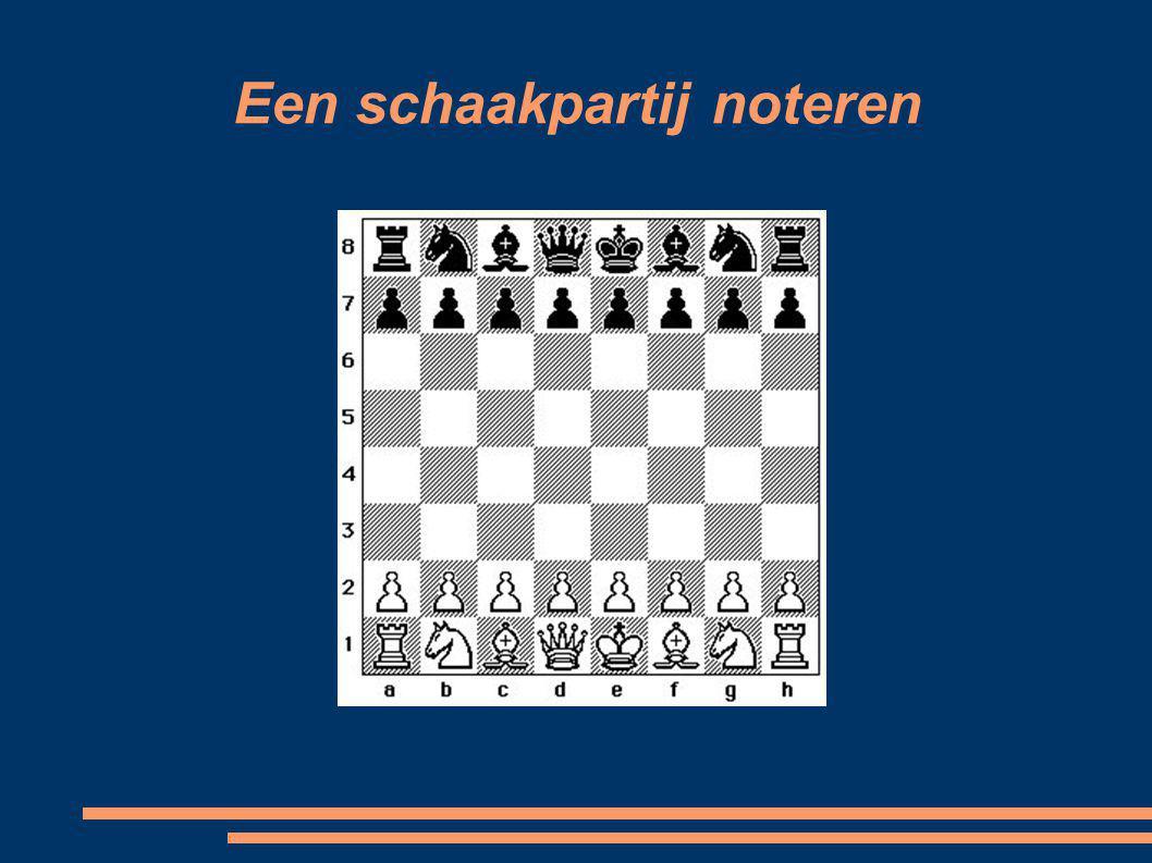 Voorbeeld schaakpartij