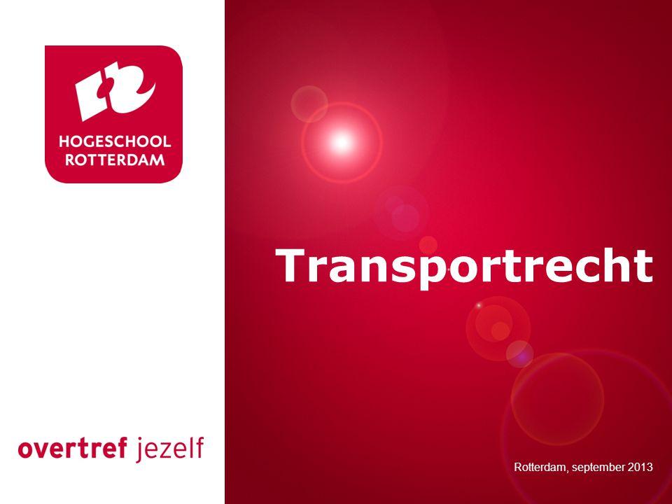 Vandaag Terugblik les 1 Transportrecht Expediteur Week 3