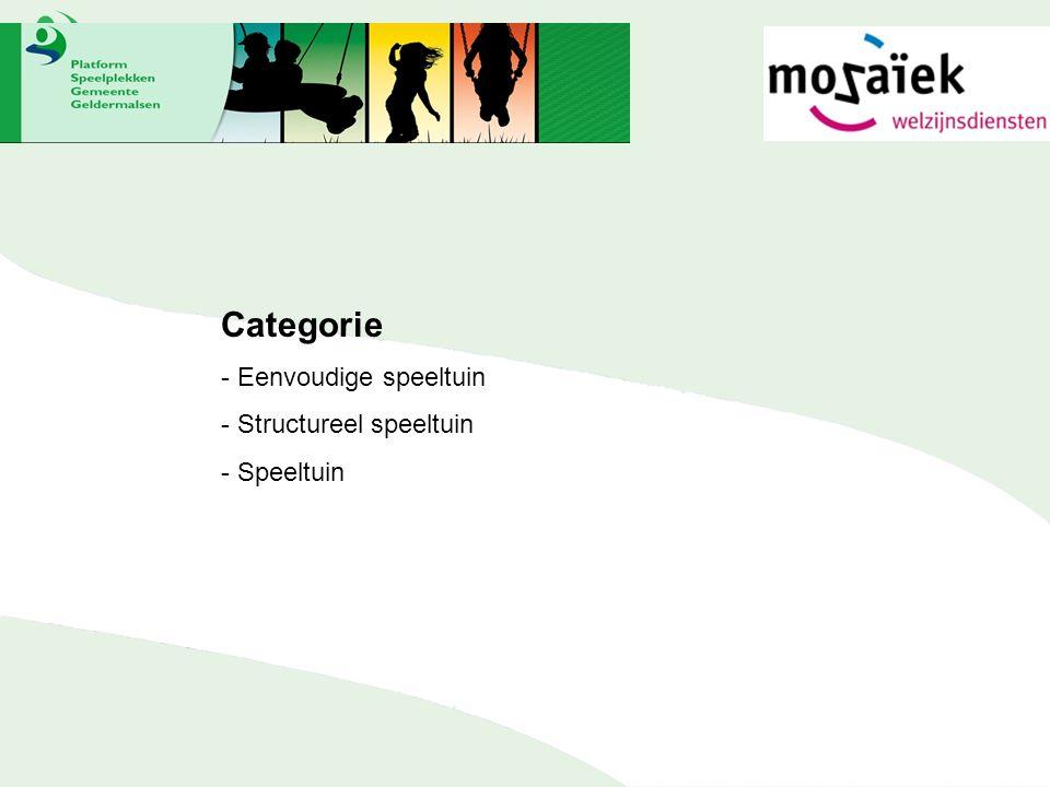 Categorie - Eenvoudige speeltuin - Structureel speeltuin - Speeltuin