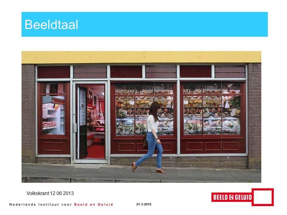 Beeldtaal 21-3-2015 Volkskrant 12 06 2013