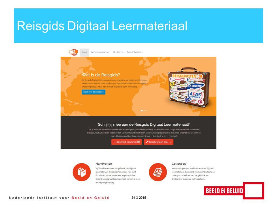 Reisgids Digitaal Leermateriaal 21-3-2015