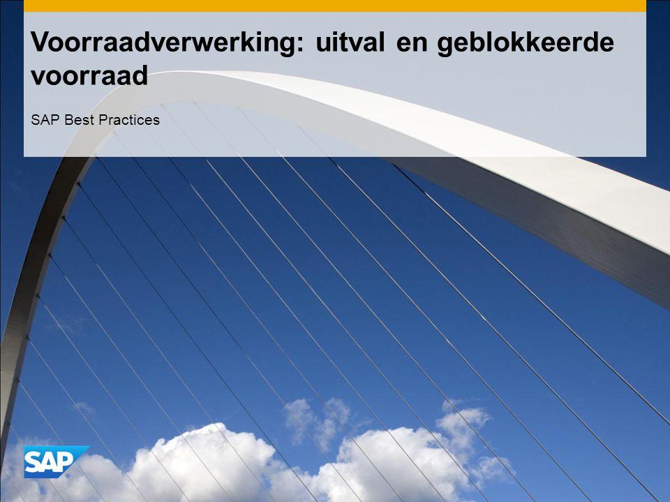Voorraadverwerking: uitval en geblokkeerde voorraad SAP Best Practices