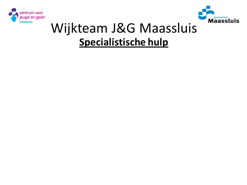 Wijkteam J&G Maassluis Specialistische hulp