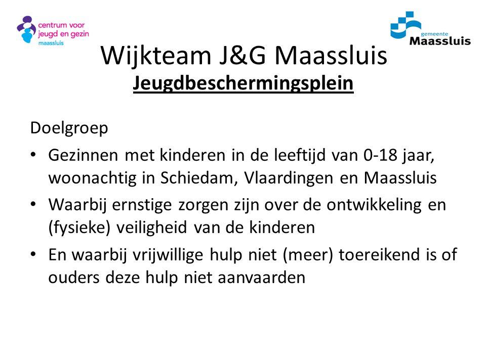 Doelgroep Gezinnen met kinderen in de leeftijd van 0-18 jaar, woonachtig in Schiedam, Vlaardingen en Maassluis Waarbij ernstige zorgen zijn over de on