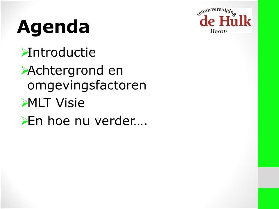 Agenda  Introductie  Achtergrond en omgevingsfactoren  MLT Visie  En hoe nu verder….